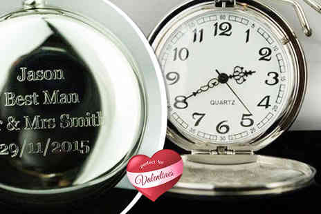 Aspire - Personalised flip pocket watch on a chain   - Save 73%