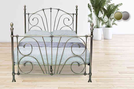 Furniture Instore - Double metal bed frame - Save 59%