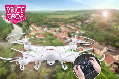 Gizmo Gadgets - Remote controlled quad copter aircraft drone with a HD camera - Save 76%