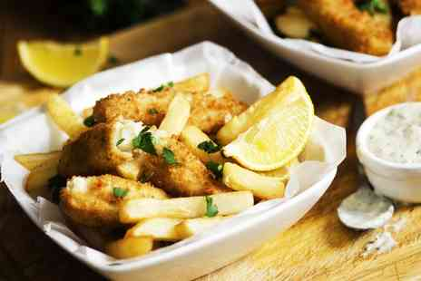 Norfolk Arms Hotel - Fish or a Burger and Chips With a Bottle of Wine For Two or Four  - Save 41%