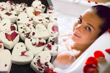 Urshu - 10 Handmade Mini Heart Bath Bombs - Save 70%