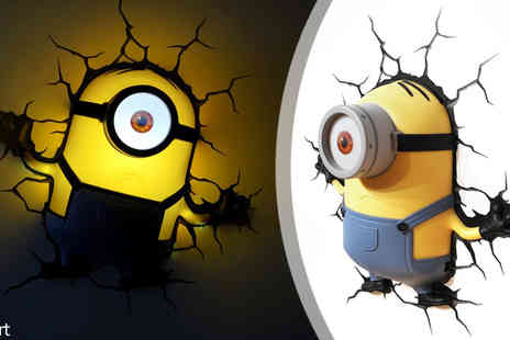 HCi Distribution - Choice of 3D Minion Wall Lights - Save 0%