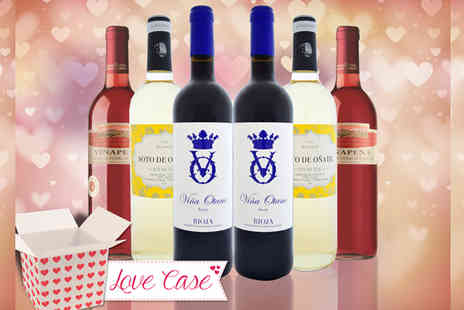 GLOBAL DEALS RIOJA PREMIUM - San Valentin Couples Valentines Wine Collection - Save 66%