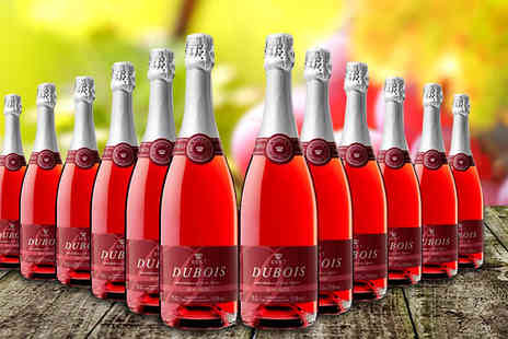 GLOBAL DEALS RIOJA PREMIUM - Sparkling Dubois Rose Wine 12 Bottles - Save 63%