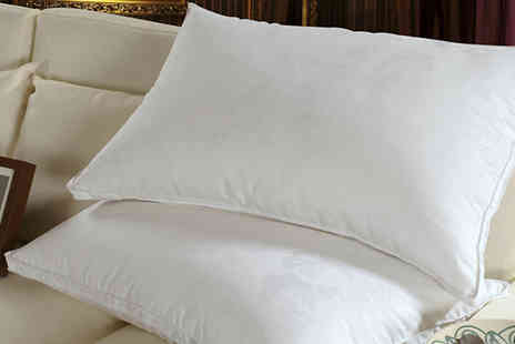 Z & U Online - Set of Two or Four Luxury Goose Feather And Down Pillows - Save 71%