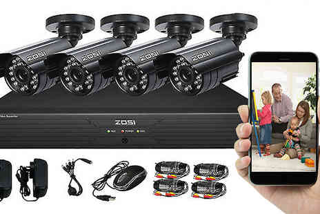Rose River - 24 Hour Outdoor Home CCTV Surveillance System - Save 60%