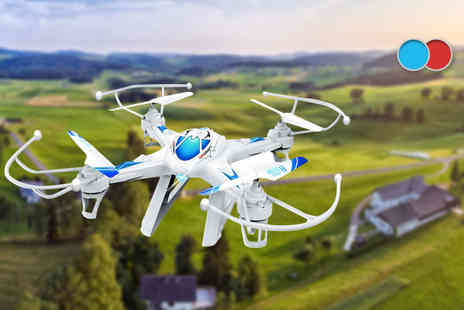 Toys Wizard -  TW X8C 2.4G 6CH RC quadcopter drone with gyro 3D and camera - Save 72%