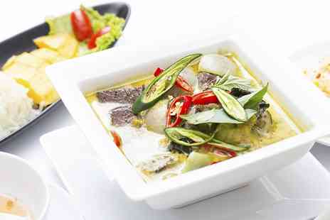 Bahn Thai - Two or Three Course Thai Meal with Prawn Crackers for Two or Four - Save 53%