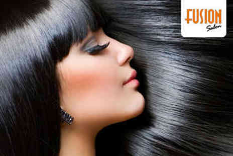 Fusion Salon - Haircut, Blow Dry, and Conditioning Treatment - Save 57%