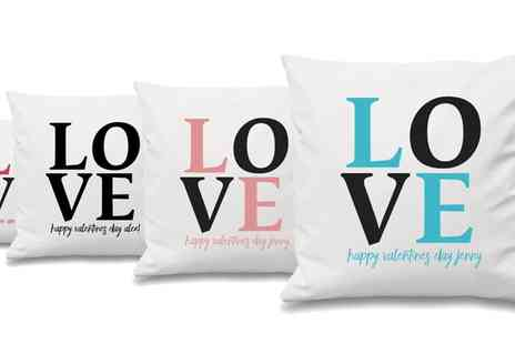Prints with Feelings - Personalised Valentines Cushion Cover - Save 62%