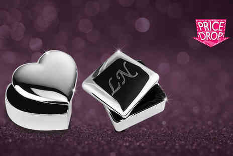 Aspire - Personalised silver plated trinket box   - Save 74%