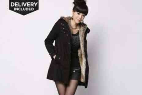 LivingSocial Shop - 3 In 1 Parka With Faux Fur Lining - Save 55%