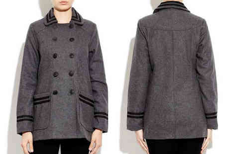 Nothing New 2 Wear - Womens Swing Style Double Breasted Coat - Save 58%
