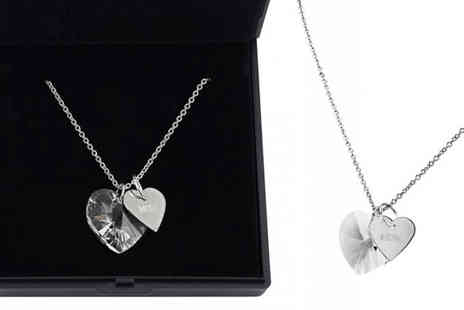 Your Ideal Gift - Mum Crystal Heart Necklace - Save 92%