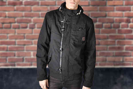 Nothing New 2 Wear - Mens Hooded Canvas Jacket - Save 55%