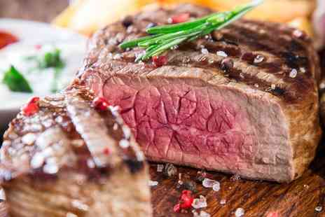 The Town Cow Steak - Steak and Wine for Two - Save 0%