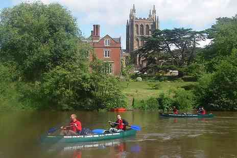 Ross on Wye Canoe Hire - Full Day Canoe Hire for Two or Four  - Save 61%