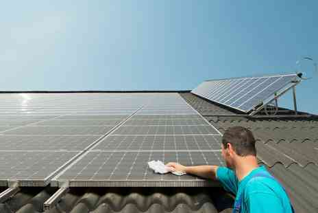 RCS Cleaning - Solar Panels and Frames Cleaning for Eight, 12, 20 or 35 Panels  - Save 55%