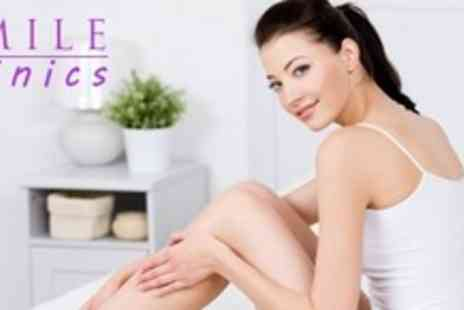 Smile Clinics - 18 Months of IPL Hair Removal on Up to Three Areas - Save 95%