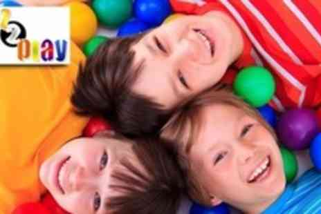 Kidz 2 Play - Indoor Play Party For Up to 15 Children - Save 64%