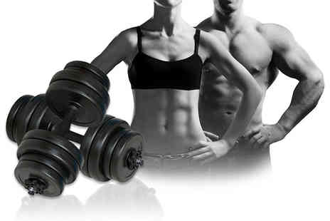 Vida XL - Set of two 15kg dumbbells  - Save 50%