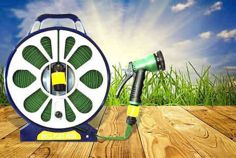 SA Products -  50ft lay flat garden hose with spray nozzle - Save 82%