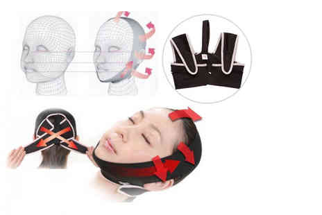 Wowcher Direct - 3D face slimming, shaping and anti wrinkle belt - Save 55%