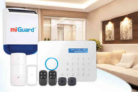 Response Electronics  - Wireless touchscreen remote controlled home security system with siren - Save 35%