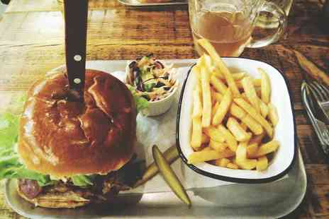 Musa Art & Music Cafe  -  Burger and Beer for Two   - Save 47%