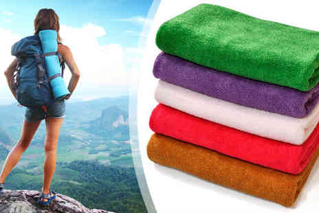 Aneeks - Five Quick Dry Travel Towels - Save 67%