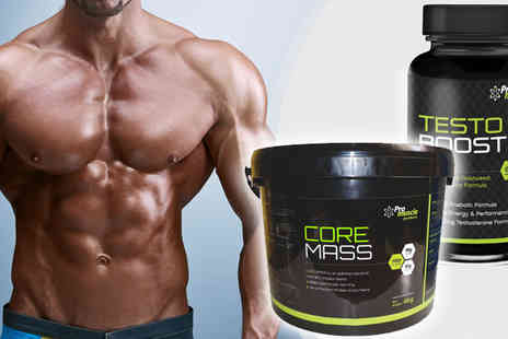 Pro Muscle Products Supplements  - One Months Supply of Core Mass Gainer and Testosterone Booster Capsules  - Save 58%