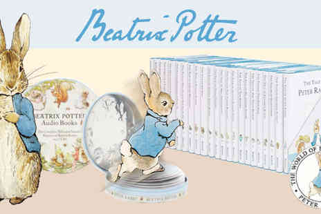 Beatrix Potter - £49.99 instead of £232 for Beatrix Potter's complete collection of books and audio CDs with FREE P&P - Save 78%