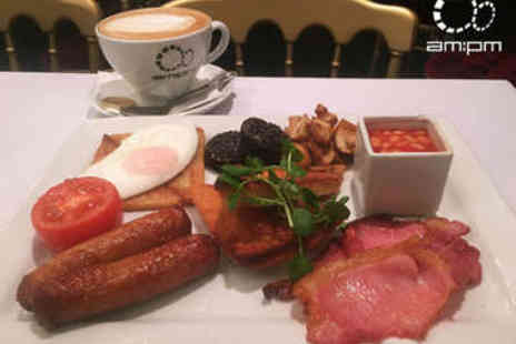 AM PM - Large Breakfast with Tea or Coffee - Save 53%