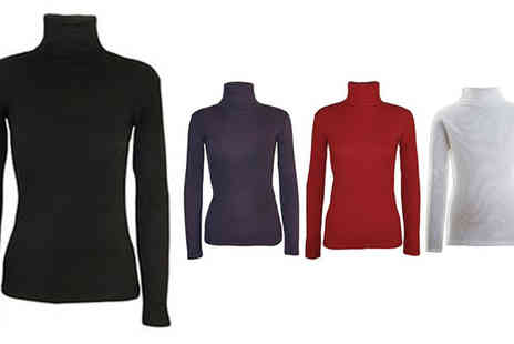 Stitch Trading - Womens Four Pack Ribbed Polo Neck Tops - Save 0%