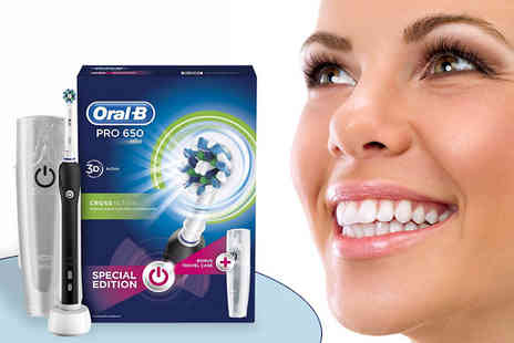 Clear Chemist - Oral B Pro 650 Cross Action Rechargeable Toothbrush - Save 54%