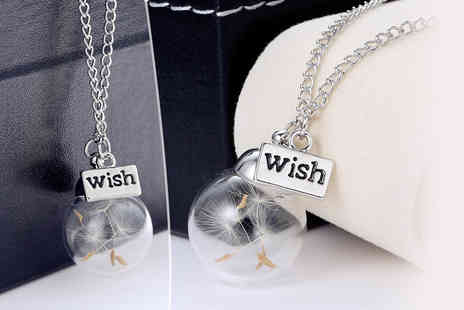 My Boutique Store - Silver plated  make a wish necklace - Save 84%