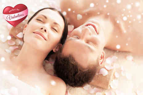 B&E Healthcare - Two hour Valentines couples pamper package with a glass of bubbly each and chocolates   - Save 83%