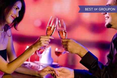 Toast Cafe Bar & Grill - Four Course Valentines Meal with a Glass of Pink Bubbly - Save 51%