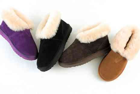 Groupon Goods Global GmbH - Sheepskin Ankle Boots in Choice of Colour - Save 71%
