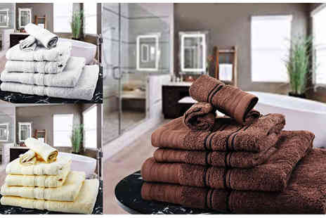Z & U ONLINE  - Six or 10pc Egyptian Towel Bale with Ten Colour Choices - Save 81%