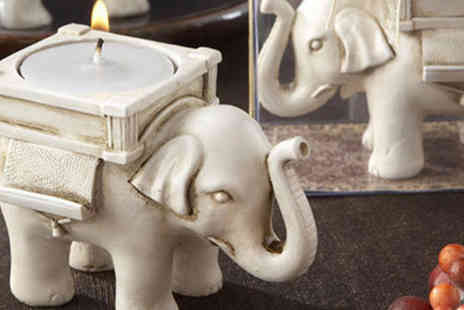 Gift box bristol - Pair of Elephant Tea Light Holders - Save 67%