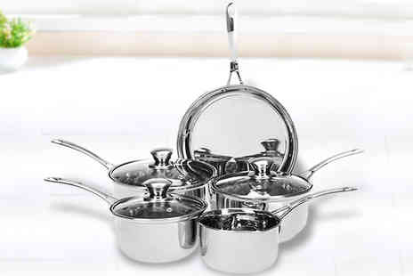 Urshu - Heavy Gauge Stainless Steel Five Piece Pan Set - Save 57%