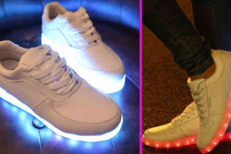 Giftright - Unisex LED Trainers With Seven Colour Modes - Save 74%