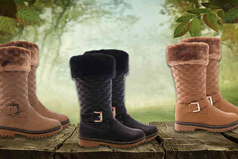 Solewish - Womens Dancer Winter Boots Available in Three Colours - Save 74%