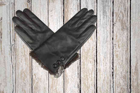 woodland Leathers  - Pair of ladies genuine leather gloves  -  Save 62%