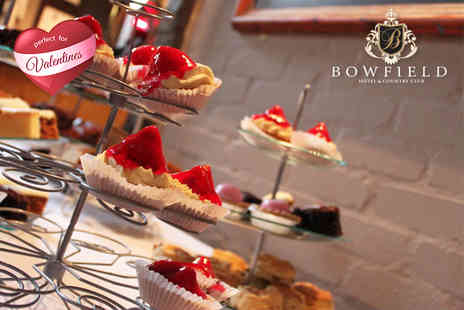 Bowfield Hotel & Country Club - Afternoon tea for two with Prosecco and access to leisure facilities   - Save 51%