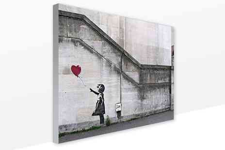 You Frame - Banksy Artwork on Canvas - Save 77%