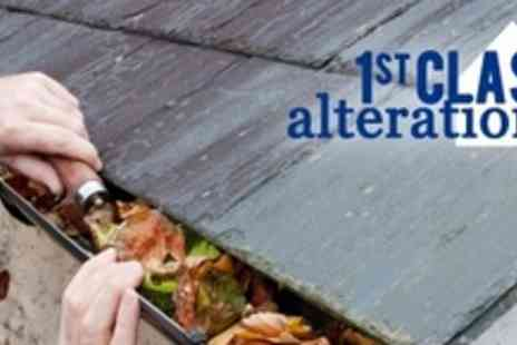 1st Class Alterations - Domestic Gutter Cleaning - Save 68%