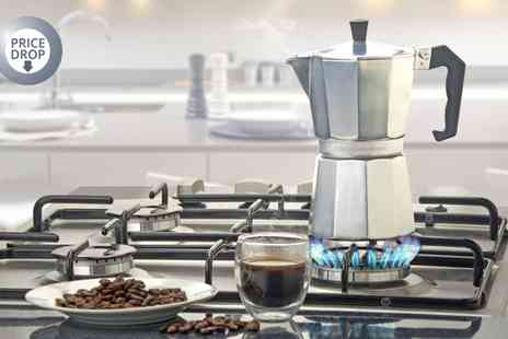 Groupon Goods Global GmbH - Cooks Professional Stove Top Aluminium Espresso Maker - Save 68%