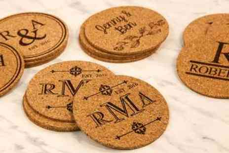 LivingSocial Shop - Personalised Cork Coasters - Save 70%